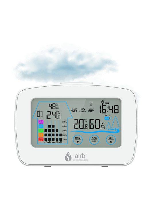 Airbi CONTROL vezeték nélküli páratartalom- és hőmérséklet mérő központ