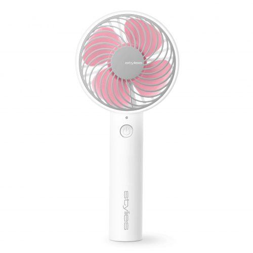 Stylies LACERTA Kézi ventilátor, rózsaszín