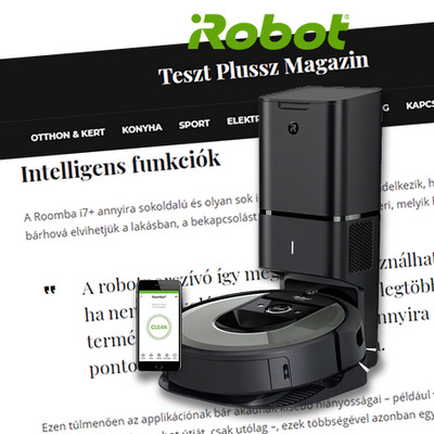 TESZTGYŐZTES LETT AZ IROBOT ROOMBA I7
