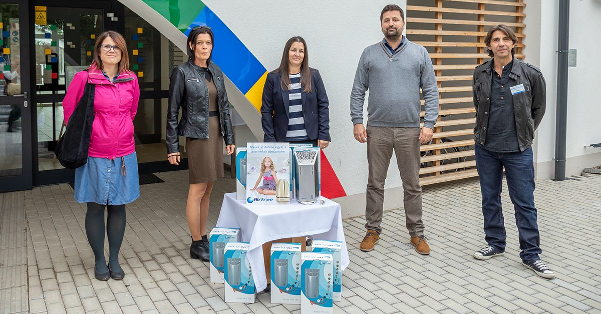 Balatonalmádi Airfree-vel is tesz az egészséges óvodáért